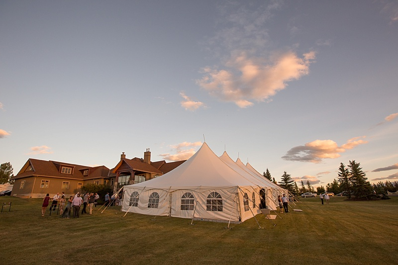 tent wedding cochrane