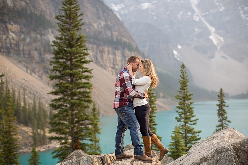 Jessica & Justin {engaged!}   Moraine Lake Engagement Session